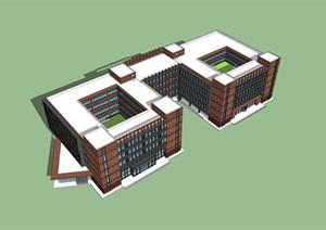 德式教学楼建筑,回字形建筑布局