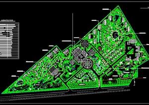 三角形基地生态农业度假休闲综合体别墅群规划CAD