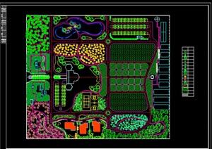 生态农业种植观光园度假旅游休闲区CAD