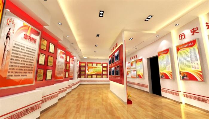 信访局荣誉展示厅3D模型及精品效果图(5)