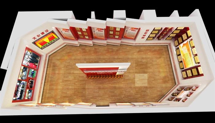 信访局荣誉展示厅3D模型及精品效果图(8)