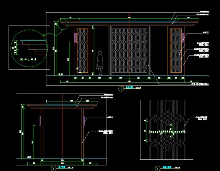 新中式廊架详图(2)