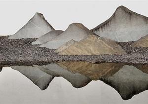 SU(草图大师)130-新中式景墙