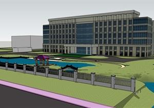 现代厂房景观设计模型