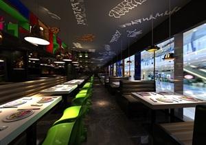 餐饮店全套设计施工图纸