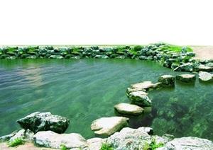 石头假山水体后期素材