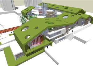 建筑學現代風格幼兒園建筑設計