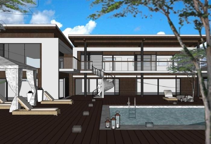现代简约欧式经典小型创意私人住宅别墅设计[原创]