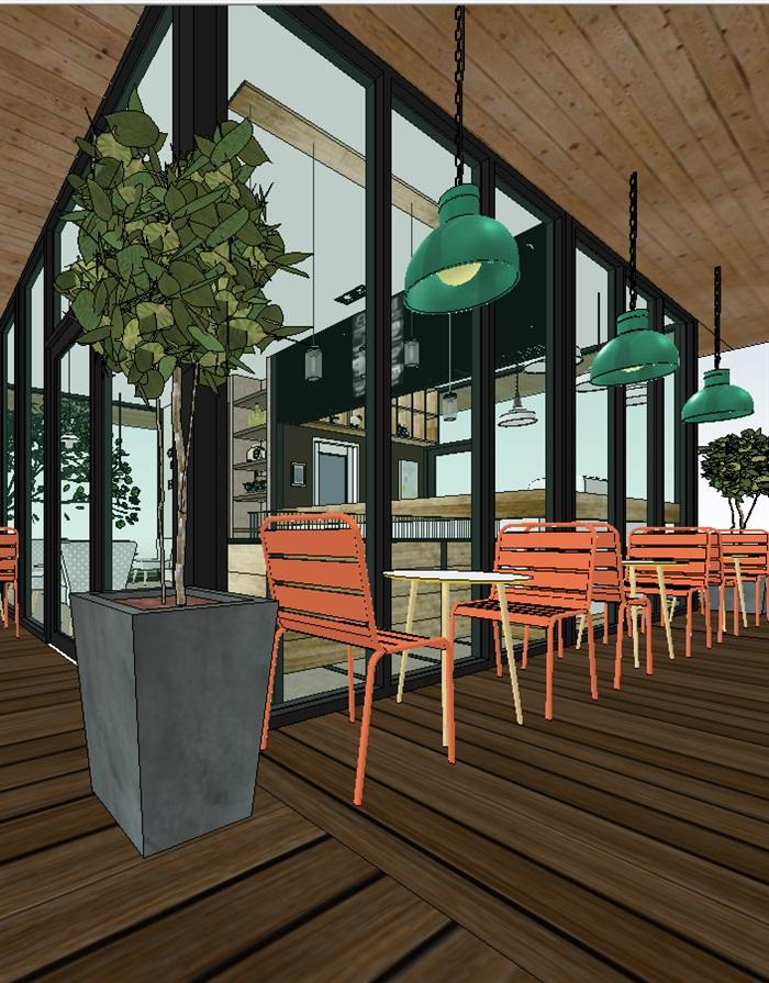 现代北欧式经典简约咖啡馆室内设计[原创]