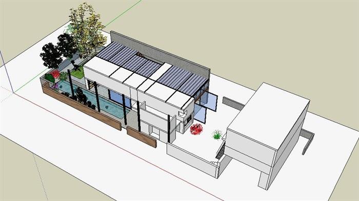 现代经典简约式私人住宅跃层室内设计(4)