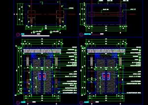 新中式大门私家庭院大门铝板施工图四合院大门详图