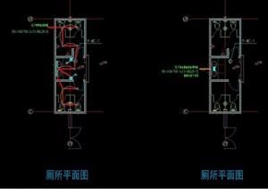 建德三期卫生间室内cad施工图