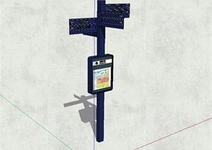 现代商业中心指路牌设计SU(草图大师)模型