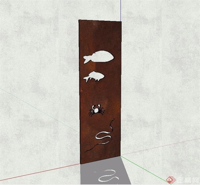 动物园指示牌素材设计su模型[原创]