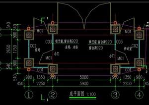 簡單歐式大門CAD施工圖