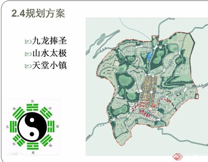 某县厢坝老场镇组团概念性城市设计设计ppt方案[原创]