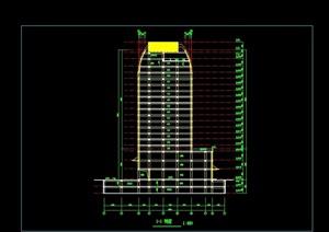 现代写字楼建筑设计cad方案