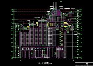 某九层酒店建筑设计cad施工图