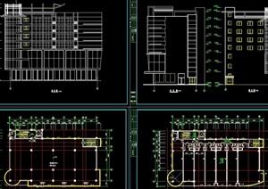 商办楼建筑cad方案图