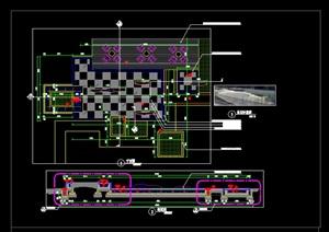 售楼处样板区镜面水景万能支撑器无边际水景施工图详图