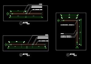 竹篱笆竹墙竹围墙施工图详图中式风格