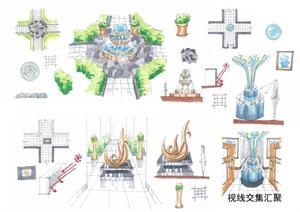 室內設計十種空間形態手繪JPG圖片