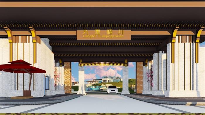 大師設計-頂豪示范區全套施工圖+SU模型-龍湖品質-超高端項目(2)