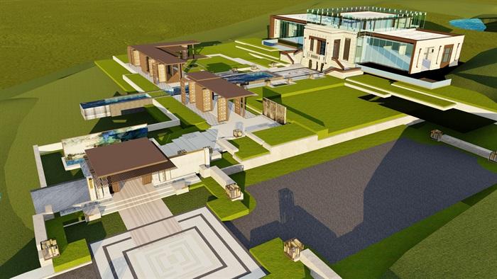 大师设计-顶豪示范区全套施工图+SU模型-龙湖品质-超高端项目(3)