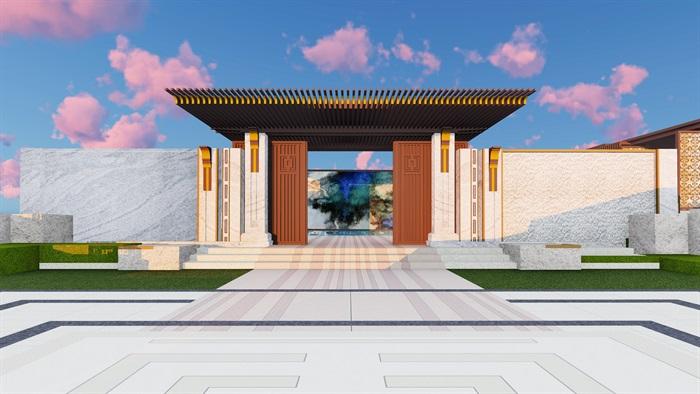 大师设计-顶豪示范区全套施工图+SU模型-龙湖品质-超高端项目(4)