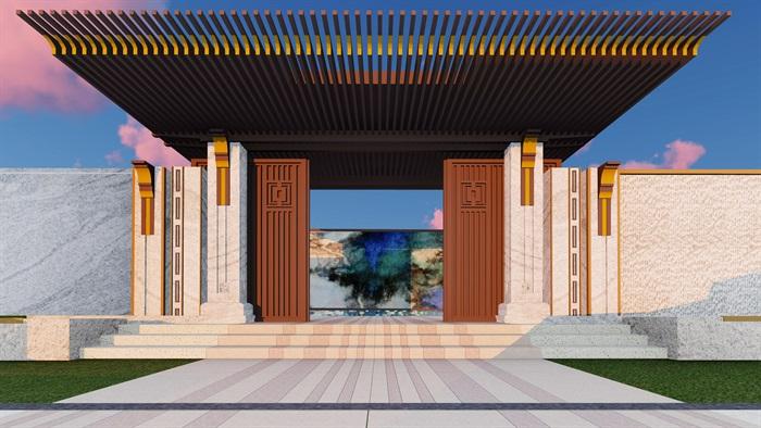 大师设计-顶豪示范区全套施工图+SU模型-龙湖品质-超高端项目(5)