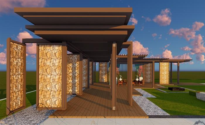 大师设计-顶豪示范区全套施工图+SU模型-龙湖品质-超高端项目(7)