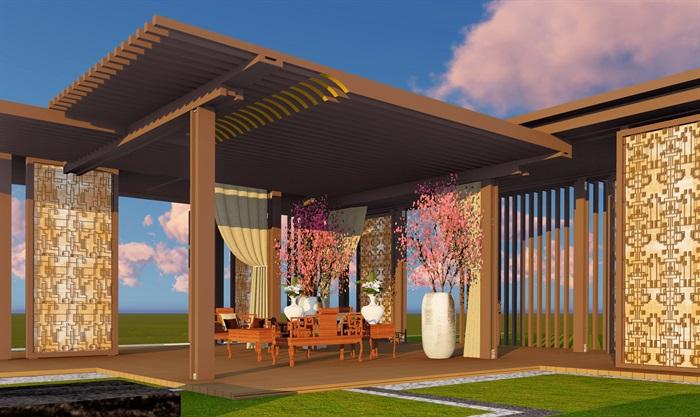 大師設計-頂豪示范區全套施工圖+SU模型-龍湖品質-超高端項目(8)
