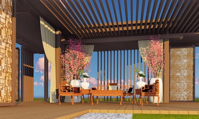 大师设计-顶豪示范区全套施工图+SU模型-龙湖品质-超高端项目(9)