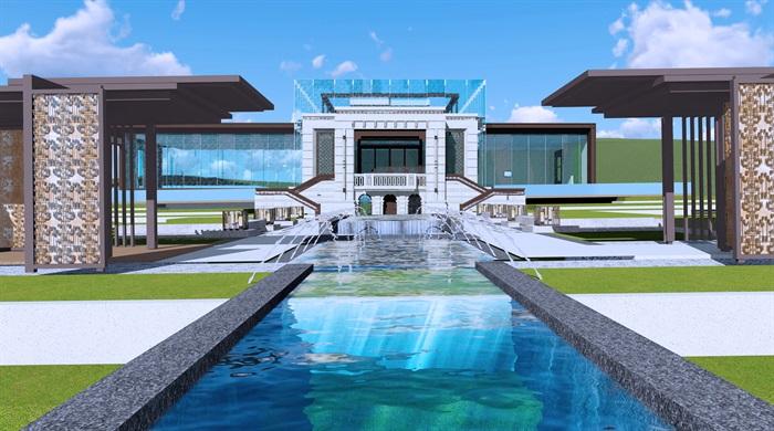 大师设计-顶豪示范区全套施工图+SU模型-龙湖品质-超高端项目(10)