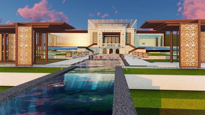大師設計-頂豪示范區全套施工圖+SU模型-龍湖品質-超高端項目(11)