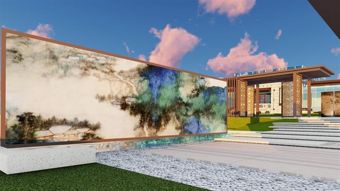 大师设计-顶豪示范区全套施工图+SU模型-龙湖品质-超高端项目(12)