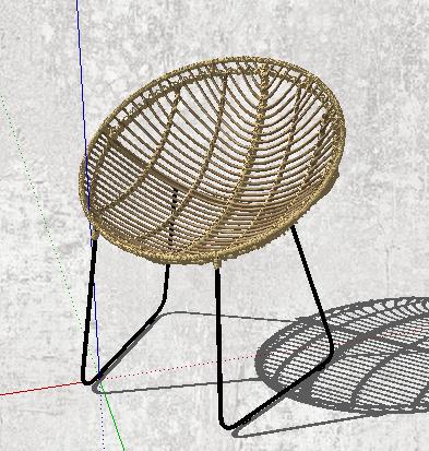 某现代风格详细藤椅su模型