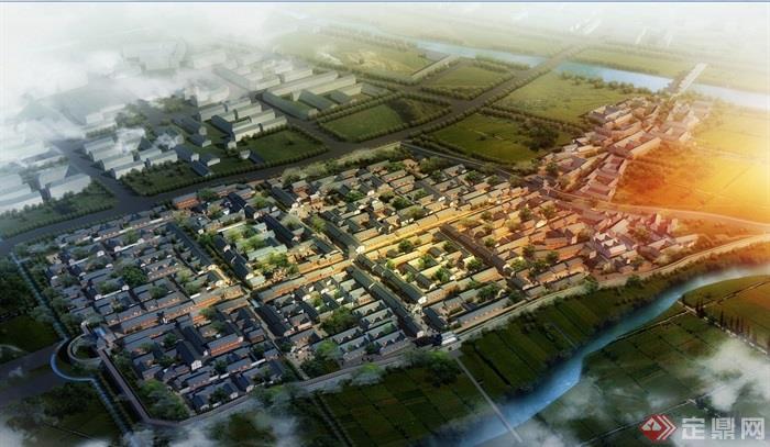 某古典中式古城详细规划设计jpg方案[原创]