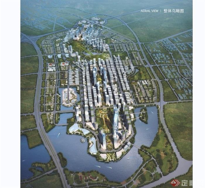 某详细的组团城市设计jpg方案[原创]