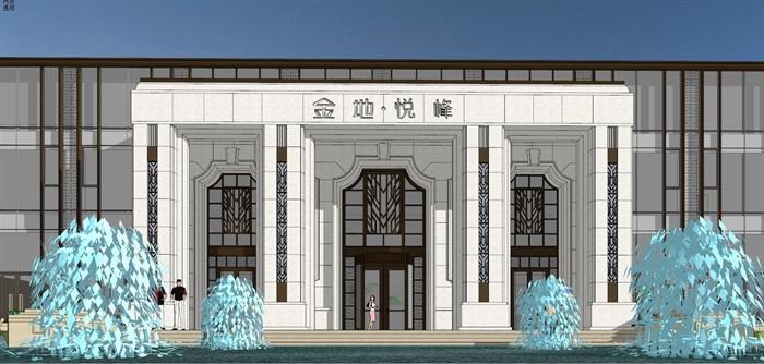 售楼处模型古典与现代元素(3)