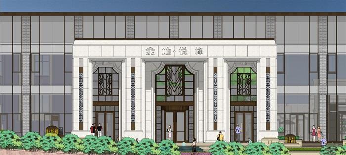 售楼处模型古典与现代元素(8)