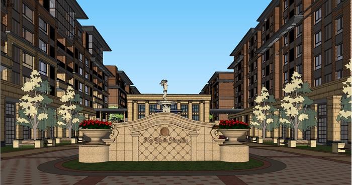 现代风格住宅精细su模型