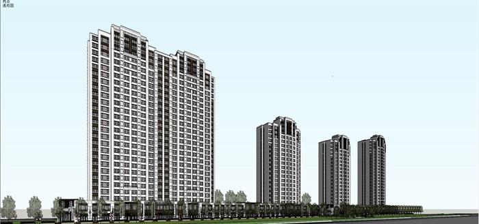 新古典高层+售楼处精细su帅(8)