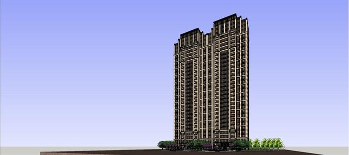 新古典高层住宅su高层(2)