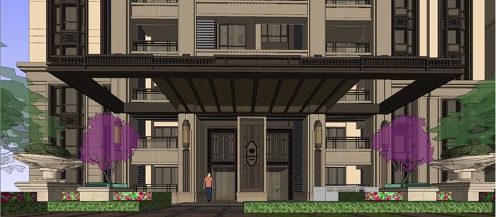 新古典高层住宅su高层(6)