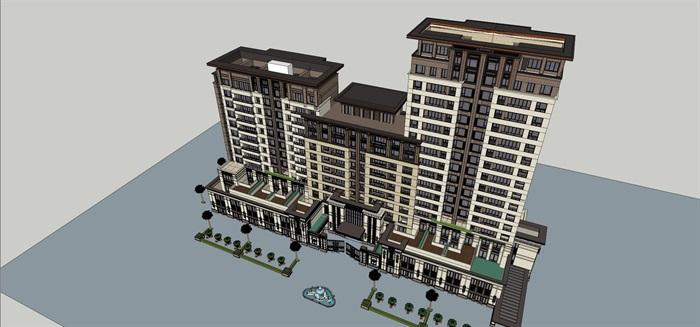新亚洲风格住宅精细su模型全(6)