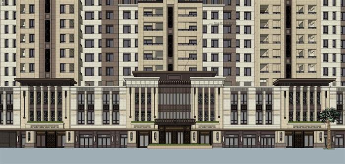 新亚洲风格住宅精细su模型全(13)