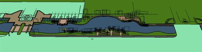 城市河道景观欧式风格带(3)