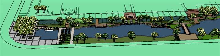 城市河道景观欧式风格带(2)