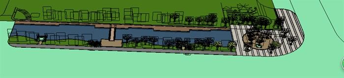 城市河道景观欧式风格带(4)